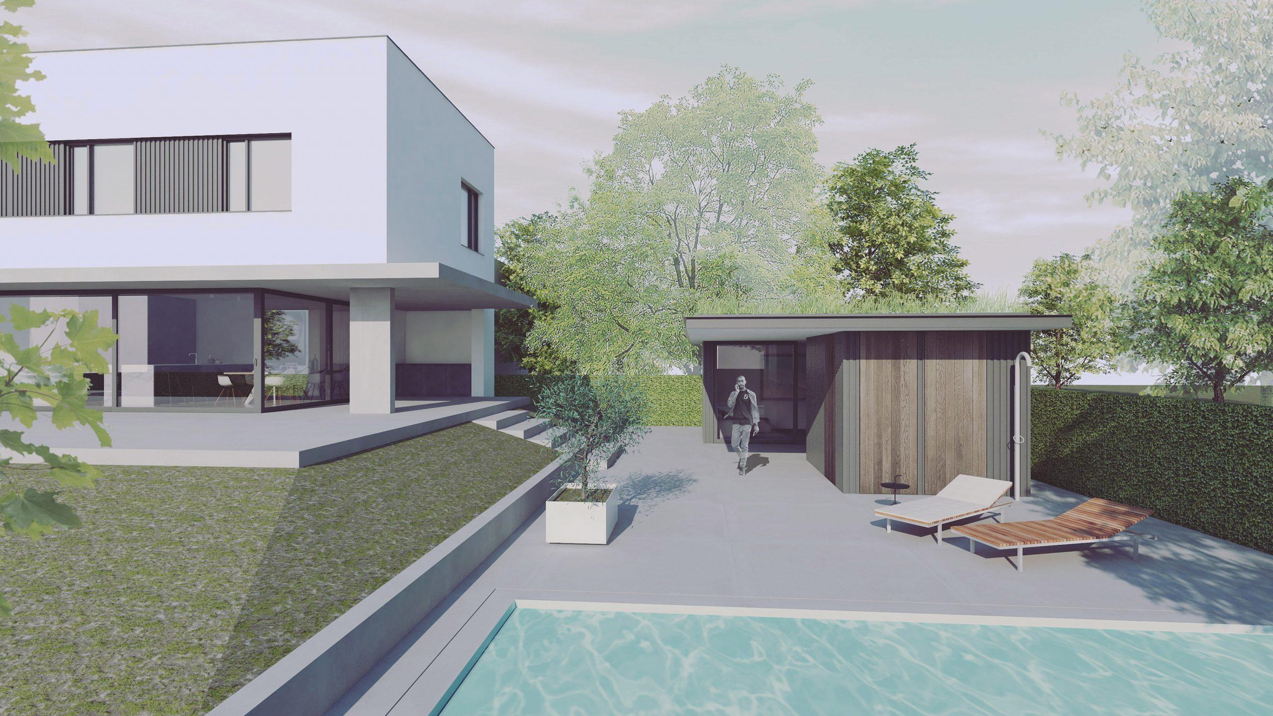 exterieur poolhouse nieuwbouw villa nieuw stalberg venlo